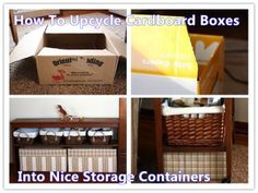 How To Upcycle Cardboard Boxes Into Nice Storage Containers