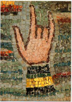 Mosaic detail,  Basilica di St. Vitale, Ravenna, Italy