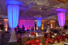 Dance floor decor and lighting at Royal Park