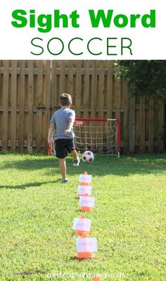 Sight Word Soccer is awesome way to make practicing reading more fun! From Coffee Cups and Crayons
