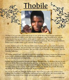 Say hello to Thobile, another fantastic beader at the Woza Moya project.