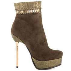 Luichiny Very Nice Army Green Ankle Boot
