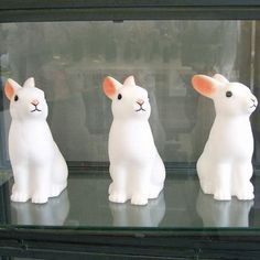ledlampor kanin, woodland rabbit night lights