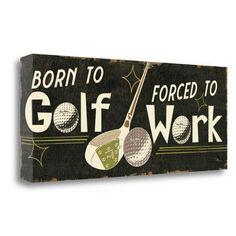 Tangletown Fine Art 'Funny Golf III' by Pela Studio Textual Art on Wrapped Canvas