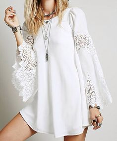 ╰☆╮Boho chic bohemian boho style hippy hippie chic bohème vibe gypsy fashion indie folk the 70s . ╰☆╮ boho lace dress