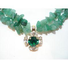 Green Aventurine Stone Necklace Emerald Pendant Gemstone Necklace... (£53) ❤ liked on Polyvore featuring jewelry, necklaces, gem jewelry, emerald green jewelry, gemstone jewelry, green aventurine jewelry and stone pendants