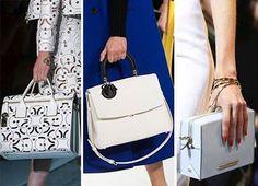 W tym roku projektanci zaproponowali sporo oryginalnych torebek o białym kolorze. Prezentujemy niektóre z nich. :) #moda, #projektanci