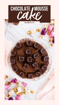 Easy Chocolate Desserts, Chocolate Mousse Cake, Sweet Desserts, Chocolate Chip Cookies, Sweet Recipes, Dessert Recipes, Dessert For Two, Quick Dessert, Drink Recipe Book