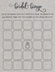 Bridal Shower Games Free Printables: What's In Your Purse