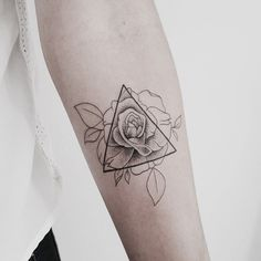 Rose triangle tattoo •Linell•