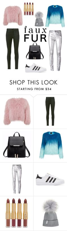 """Faux Fur Casual"" by livikins-on-pointe ❤ liked on Polyvore featuring Charlotte Simone, Frame, Unreal Fur, Étoile Isabel Marant, adidas Originals and tarte"