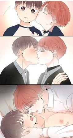 Window to window Anime Couple Kiss, Anime Couples, Manhwa, Manga Anime, Anime Art, Lovely Complex, Shounen Ai, Manga Comics, Couple