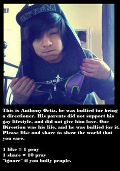 I love some one who is bullied almost everyday. Please share. This isn't fair that people bully him for being him :(