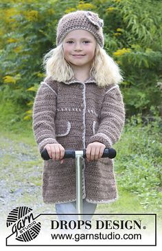 Ravelry: 0-938 Mathilda - Coat and hat with decorative edges in DROPS ♥ YOU #4 or Nepal pattern by DROPS design