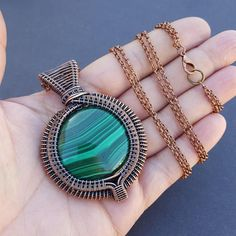 This one of a kind necklace features a brilliant, natural malachite stone that was ethically mined, and cut, by a team in Congo. I had the pleasure of hand selecting this stone from one of the men that mined it, and he had stories to tell! This stone is truly fabulous and is one of a