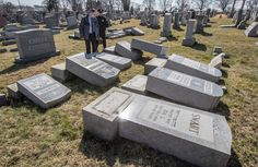The episode drew almost immediate comparison to a similar discovery last Monday in University City, Mo., where more than 150 headstones were toppled.
