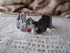 """A Matching Bracelet. YES Please!   Spoon Bracelet, Spoon Jewelry, Disney, """"Mickey and Minnie Mouse"""""""