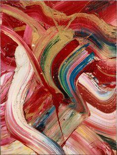 KAZUO SHIRAGA  http://www.widewalls.ch/artist/kazuo-shiraga/  #abstractart #painting #performanceart #zeromovement