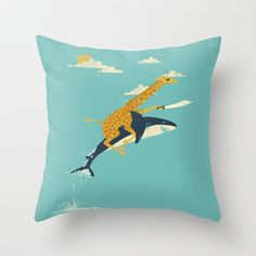 The florida room couch needs this...yesterday! Onward! Throw Pillow by Jay Fleck - $20.00
