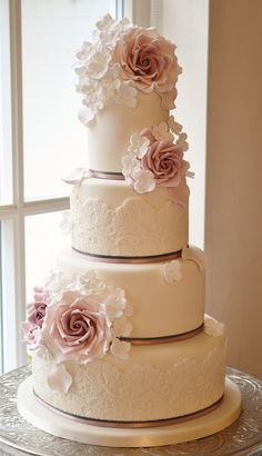 Rose & Hydrangea cake | Flickr - Photo Sharing!