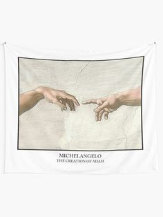 """""""The Creation of Adam Michelangelo"""" Tapestry by ind3finite 
