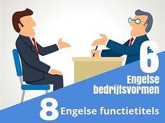 6 Engelse bedrijfsvormen 8 Engelse-functietitels. Zie hier wat een bv, een nv, eenmanszaak etc. in het Engels is met ook verschillenden Engelse functietitels. SR training zakelijk Engels Bergen op Zoom.