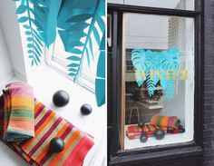 See how we decorated our last windows of the Winter with this blog post! #cambiedesign #cambieblog #windowsisplay #DIY