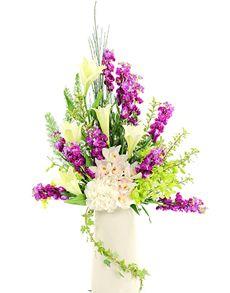 Gift Ideas - Easter Flowers: Flower Vase - Lovely Lilies and Orchids! Easter Flowers, Flowers Online, Amazing Flowers, Lilies, Flower Vases, Singapore, Orchids, Floral Wreath, Wreaths