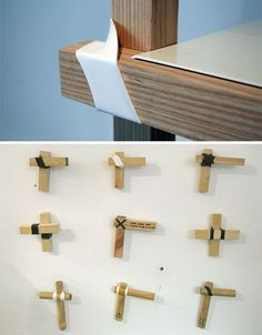 Apply a little heat to this creative shrink wrap joinery and you've got an innovative furniture solution that nixes nails and screws. Ikea Furniture, Wooden Furniture, Furniture Plans, Cool Furniture, Furniture Design, Furniture Websites, Inexpensive Furniture, Furniture Removal, Furniture Outlet