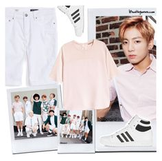 """""""BTS The Billboard Studio Photo Shoot inspired by Jungkook outfit"""" by yooane on Polyvore featuring Tommy Hilfiger, adidas Originals, H&M, bts, BangtanBoys, jungkook, bangtansonyeondan and jeonjungkook"""