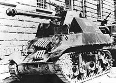 A captured M3 Stuart modified with a Pak anti tank gun