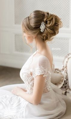Coiffure De Mariage  : Featured Wedding Hairstyle:Elstile;www.elstile.ru; Wedding hairstyle idea.