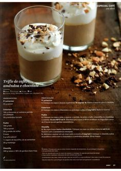 Revista Bimby - Abril 2015 Trifle, Sweet Cakes, What To Cook, Sweet Desserts, Coffee Time, Nom Nom, Deserts, Good Food, Brunch