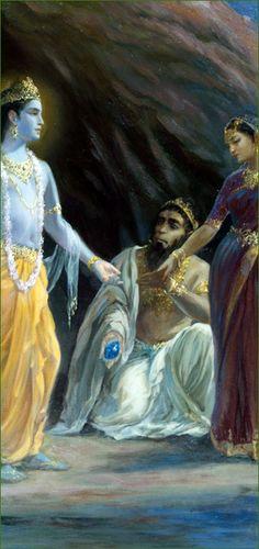 Krishna, Jambavan & Jambavati-The Story of the Syamantaka Jewel.
