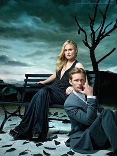 Anna Paquin  Alexander Skarsgard -  True Blood Sookie Stackhouse Eric Northman hbo
