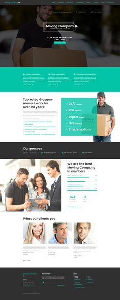 Website Template , Moving Company