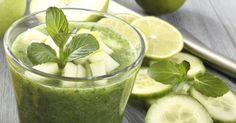 Recette de Soupe froide concombre, pomme, menthe et gingembre. Facile et rapide à réaliser, goûteuse et diététique.
