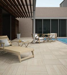 Teka #wood #floors are a classic in #gardens and #pools, and Teka series it's a #ceramic collection with all the advantages of this #flooring without any problem with its maintenance. #ceramics #tiles #exteriors