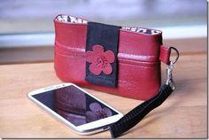DIY Tutorial DIY Fabric Phone Case / DIY Leather Cell Phone Wristlet - Bead&Cord