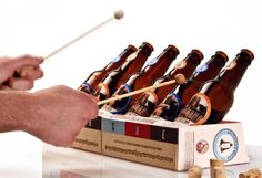 DIY xylophone made from beer bottles...hahaha this has got to be something we all try! :D