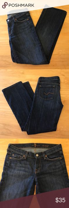 """7 For All Mankind Bootcut Jeans Size 26, 7 For All Mankind Bootcut Jeans in good condition with no major flaws or stains. Shorter inseam approximately 28"""" 7 For All Mankind Jeans Boot Cut"""
