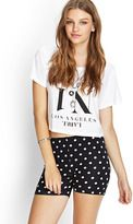 forever 21 polka dot bike shorts