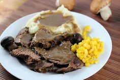 PORK AND VENISON DEER MEAT ROAST FANTASTIC WITH COFFEE IN CROCKPOT