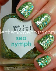 "Sweet Fairy Boutique ""Sea Nymph"" over Zoya ""Meg"""