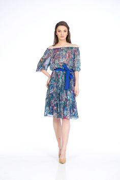 Colectia Primavara/Vara 2017 NICHI CRISTINA NICHITA Nature Symphony rochie cu umerii goi