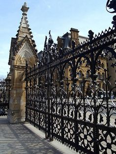 'Wrought Iron Fence at Parliament Buildings, Ottawa, Canada' Metal Print by vette - Modern Design Fence Landscaping, Backyard Fences, Fenced In Yard, Front Yard Fence, Fence Garden, Fence Art, Farm Fence, Dog Fence, Ottawa Canada