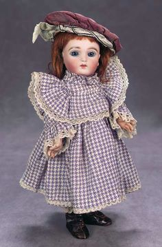 Joseph Joanny,circa 1886. Value Points: very dolls by this maker are known,this example in endearing petite size with lovely bisque and painting,splendid eyes,lovely antique costume,undergarments,silk bonnet,leather ankle boots. Presale Estimate:  3500/4500 Realized Price:  $4,600 The Great Man's Doll | Theriault's