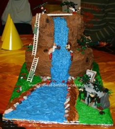 Indiana Jones Cake: The grandson is CRAZY about Indiana Jones and Lego Indiana Jones.  We (grandma, mom, and dad) baked two 12 cakes, 2 9 cakes, and cupcakes for our Indiana