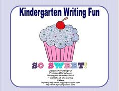 A fun activity to practice writing and counting 0-10.  This package includes 15 pages of printable worksheets that include counting and printing the numbers, a page of coloring, and a maze, all with a fun Counting Cupcakes theme.