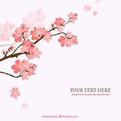Cereja de galho de árvore fundo Vetor grátis